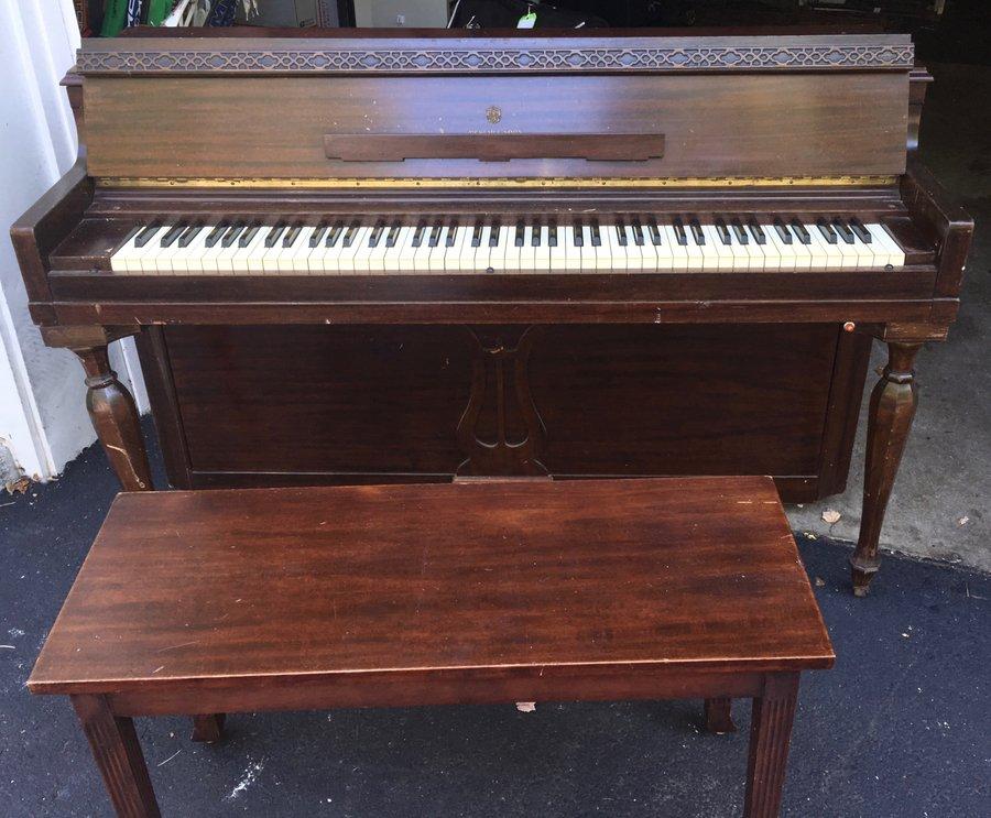 Mehlin Sons Upright Piano   eBay