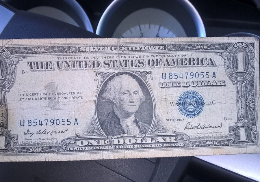 How Much Is A 1957 One Dollar Bill Blue Seal Worth Artifact