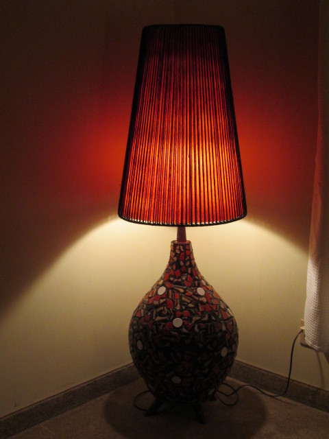 Extra Large Ceramic Mosaic Floor Lamp For Sale Artifact