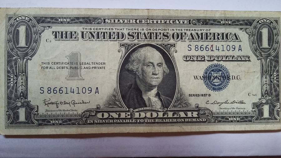 How Much Blue Silver Certificate Series 1957 B Worth I Send 3