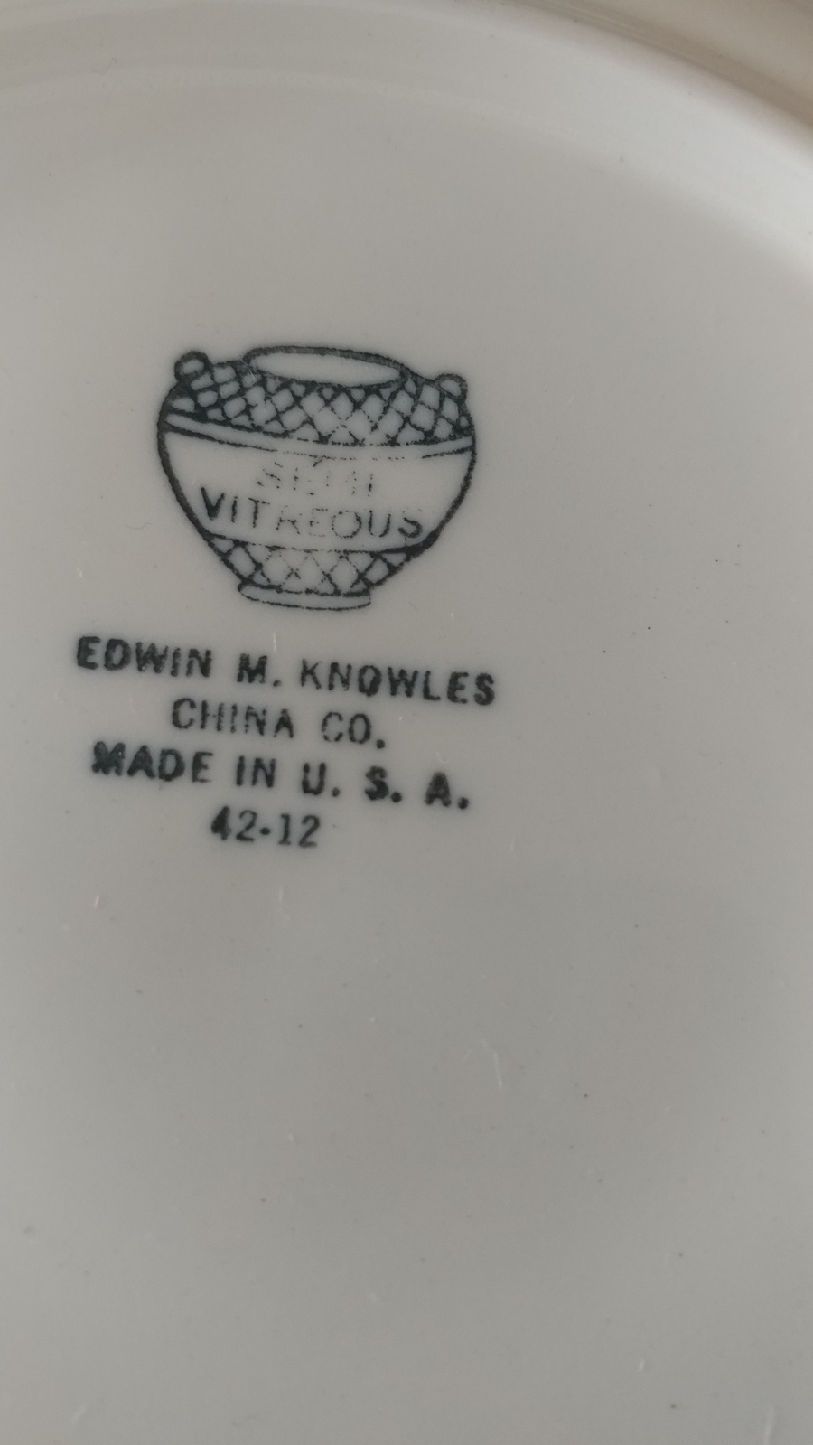 Trying The Find Out What Pattern Is Mine Edwin Knowles China ...