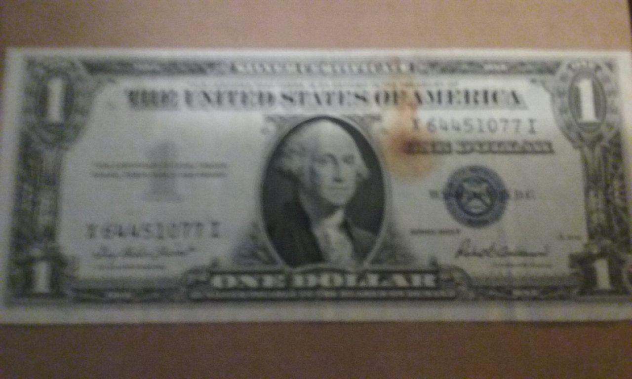 1935 G Silver Certificate Dollar Bill Blue Seal Value Best Design