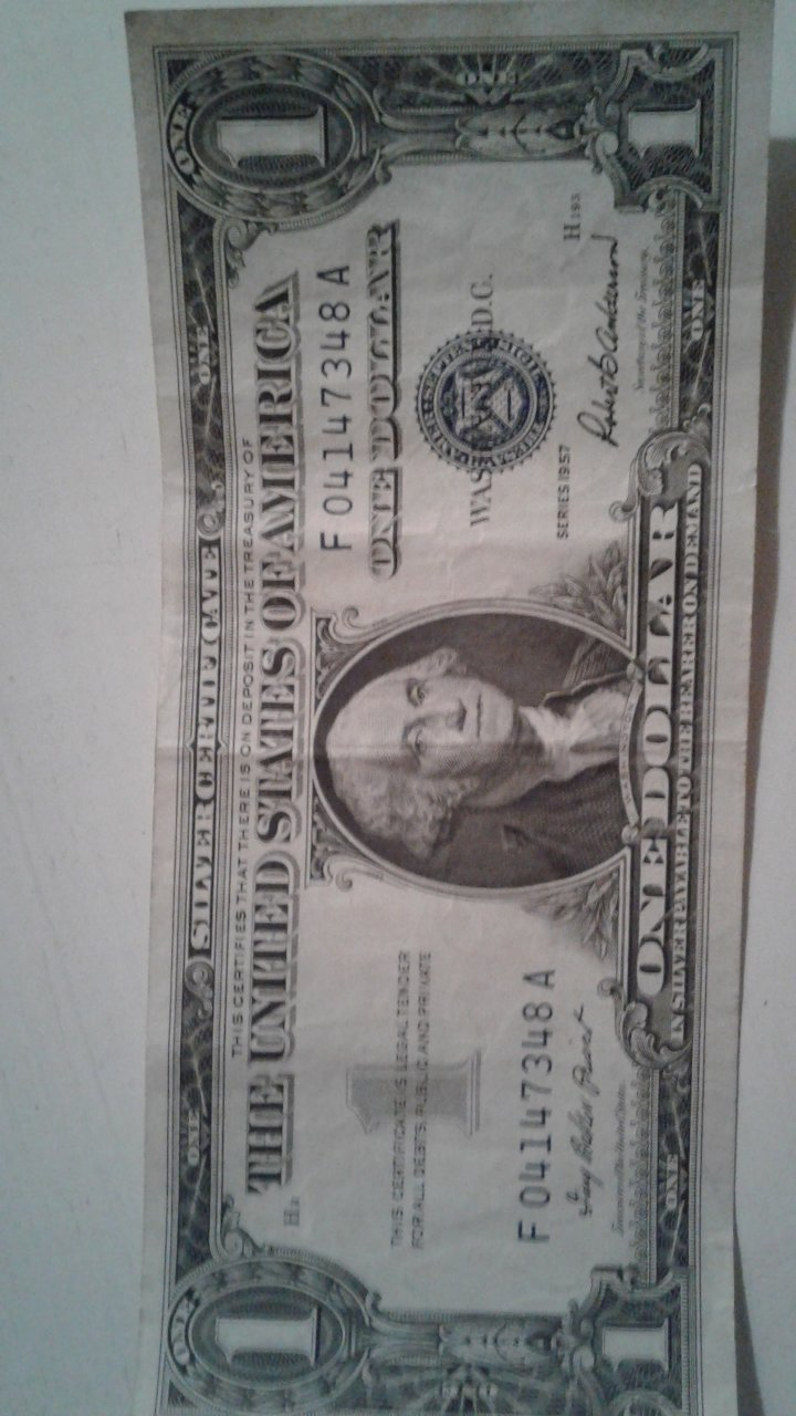 How much is a silver certificate 1957 h series worth serial how much is a silver certificate 1 1957 h series worth serial number f041 xflitez Choice Image