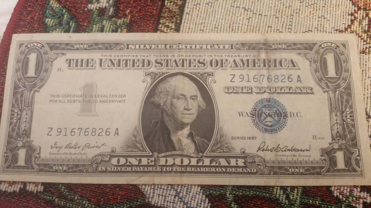 I Have A 1957 Silver Certificate With Serial Number Starting With Z