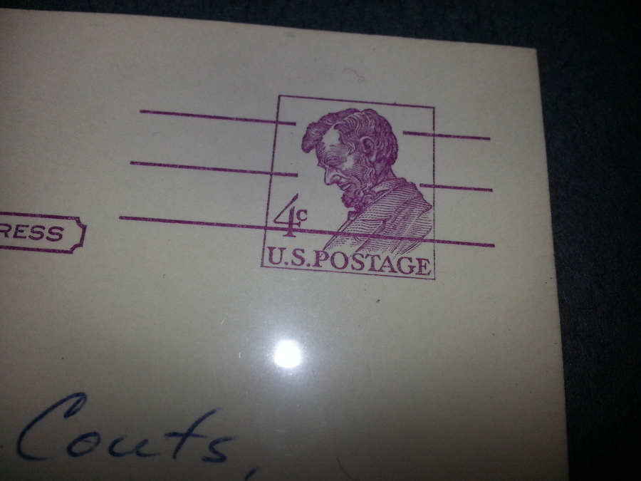 how much is my 1961 abe lincoln 4 cent stamp worth is in on a post card in artifact collectors. Black Bedroom Furniture Sets. Home Design Ideas