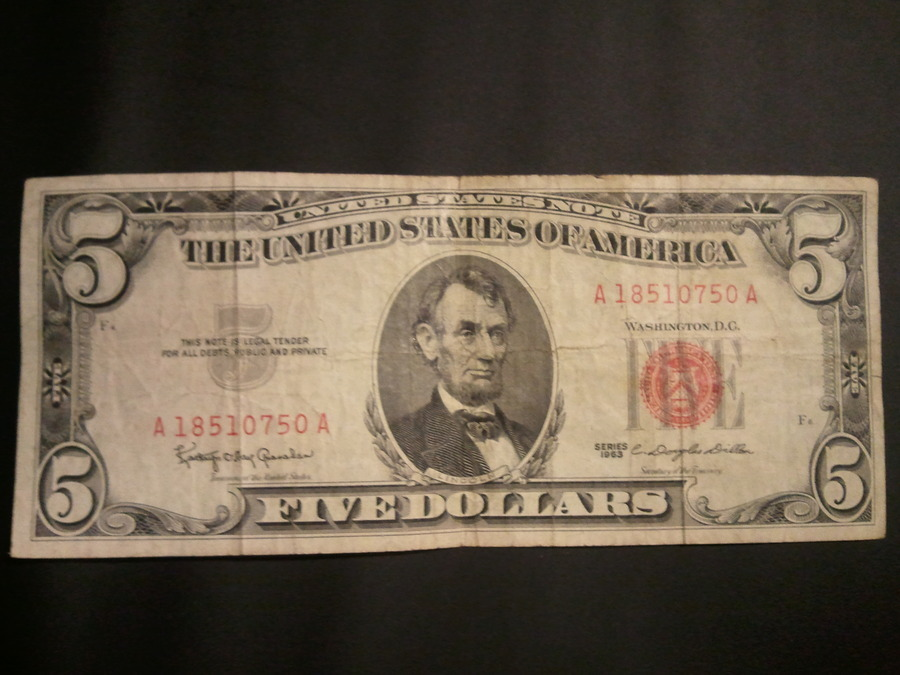 How Much Is A 1963 Red Seal Five Dollar Bill Worth