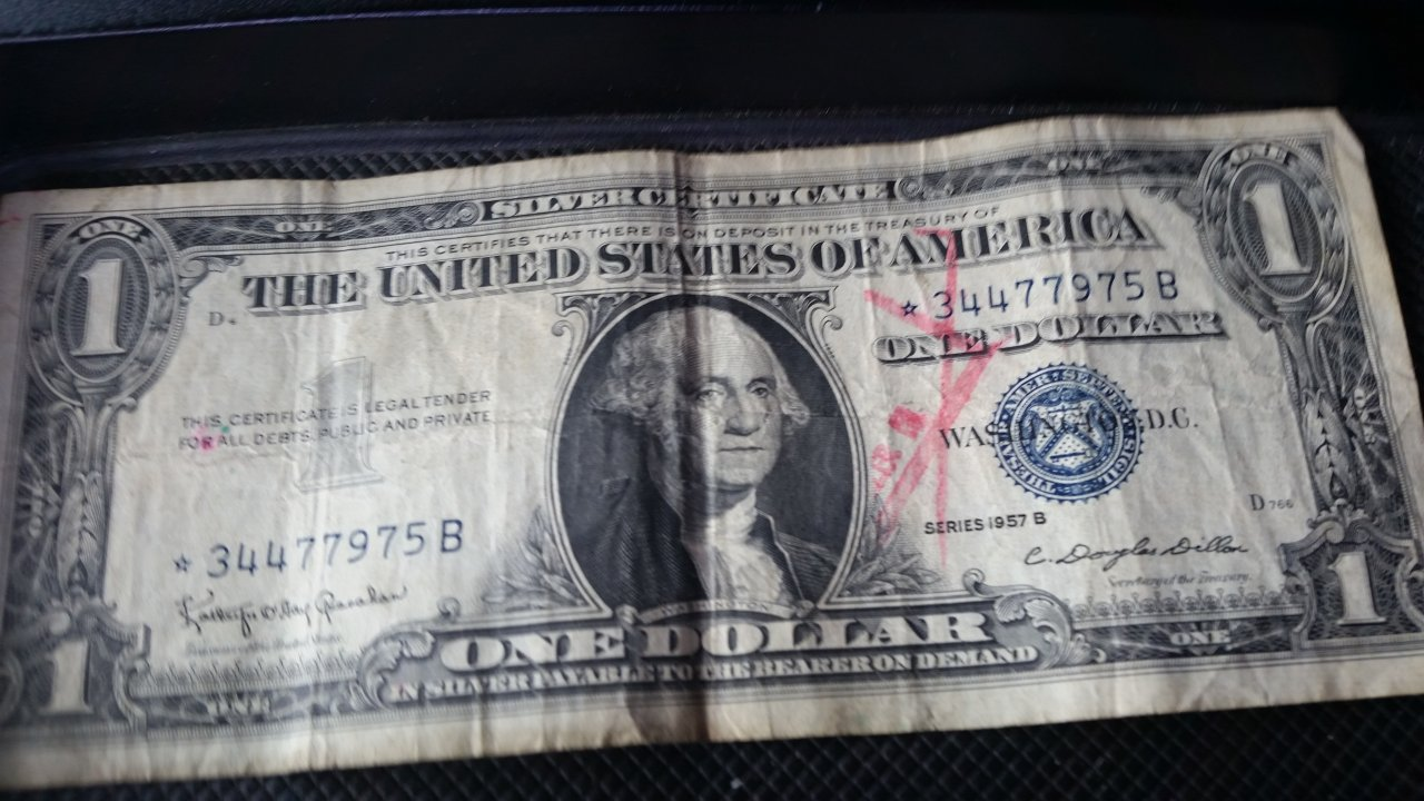 How much is a silver certificate dollar bill worth with blue seal how much is this one worth xflitez Choice Image