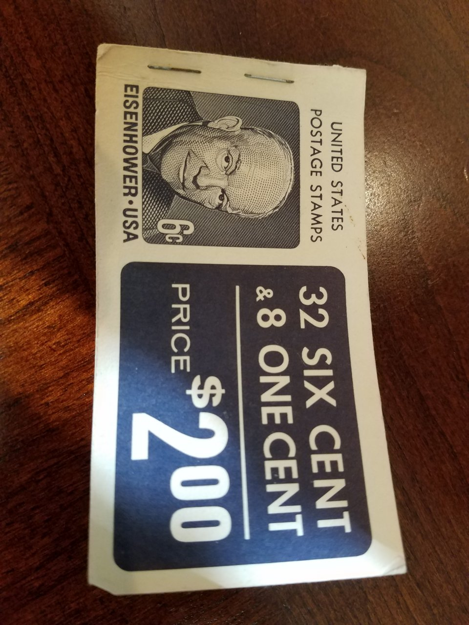 I Have A Booklet Of Eisenhower 6 Cent Stamps Plus It Includes Eight Jeffer