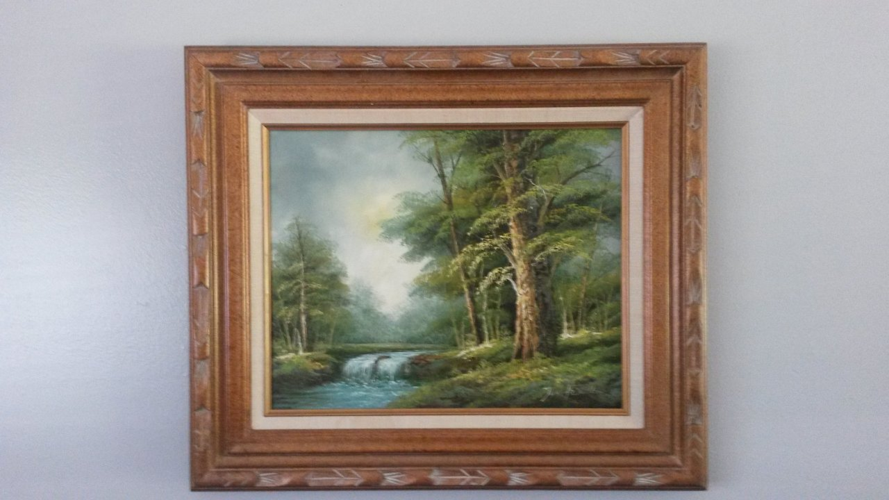 Signed Wolsey Co Industry Cal 20 Painting Can T Read