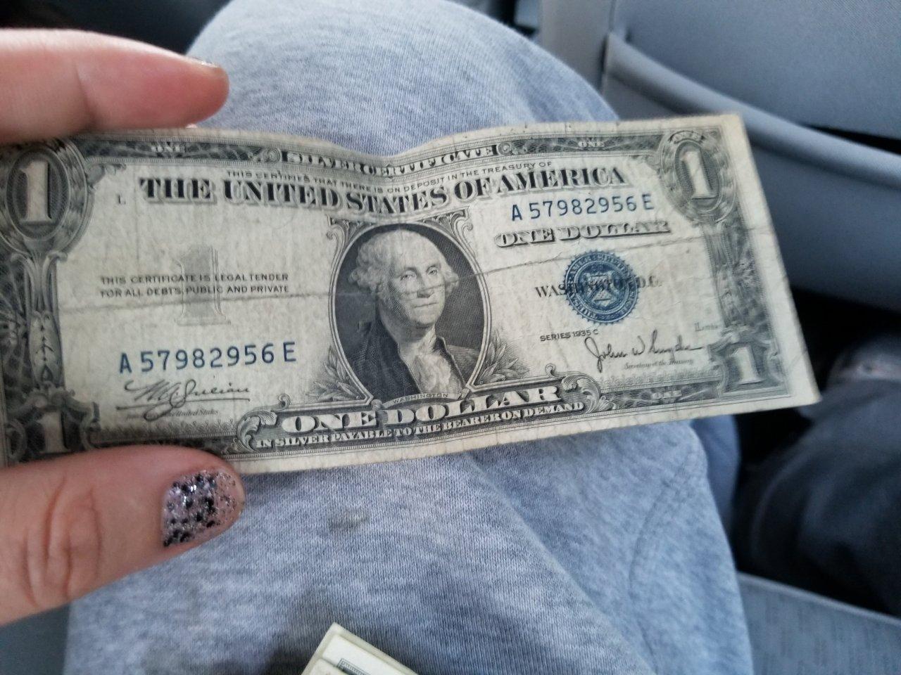 How Much Is A 1935 C Series Blue Print Dollar Bill Worth Artifact