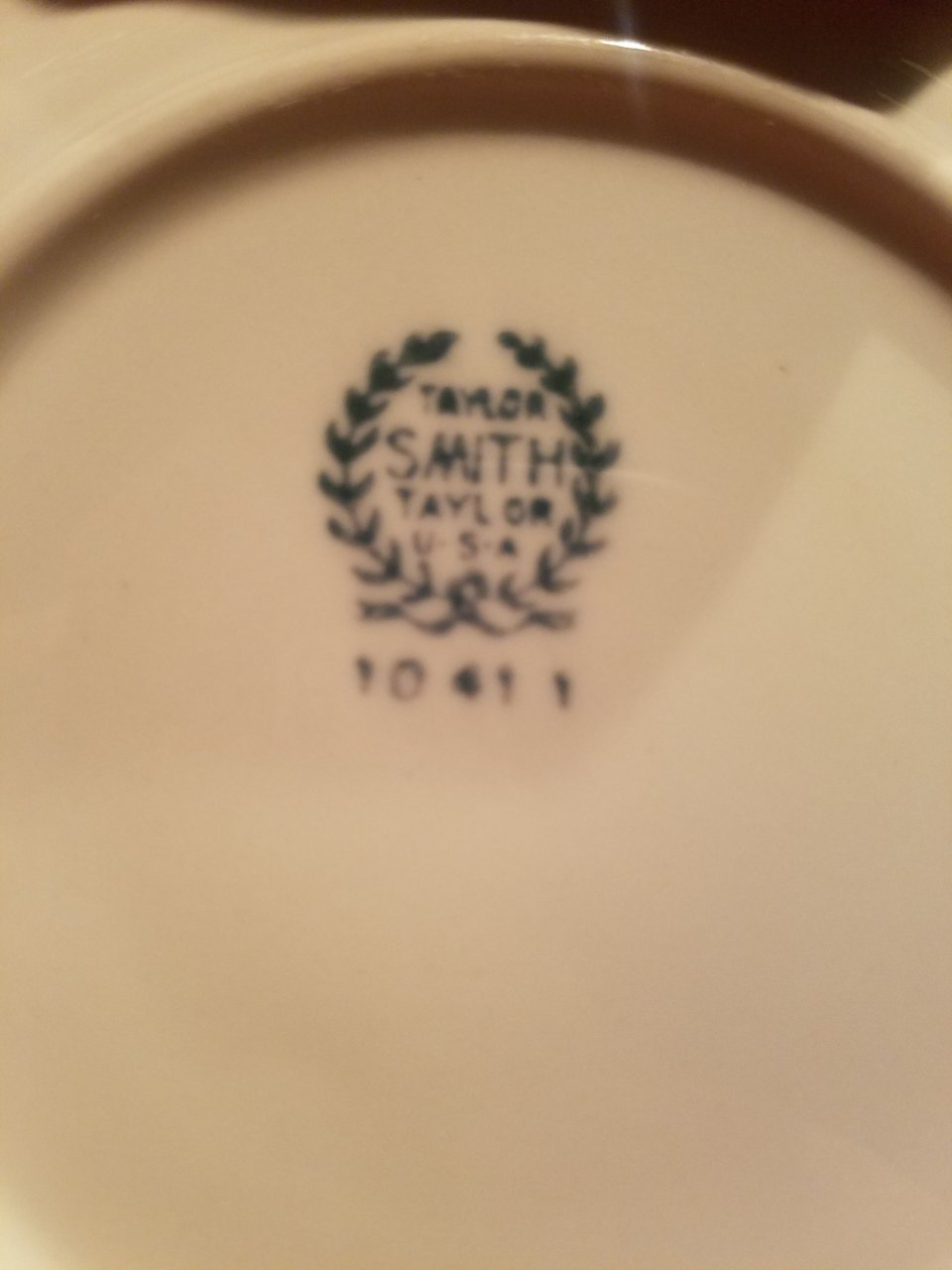 Was Is Value Of My Set For 10 Of Taylor Smith Dishes The Stamp On Back Says Artifact Collectors