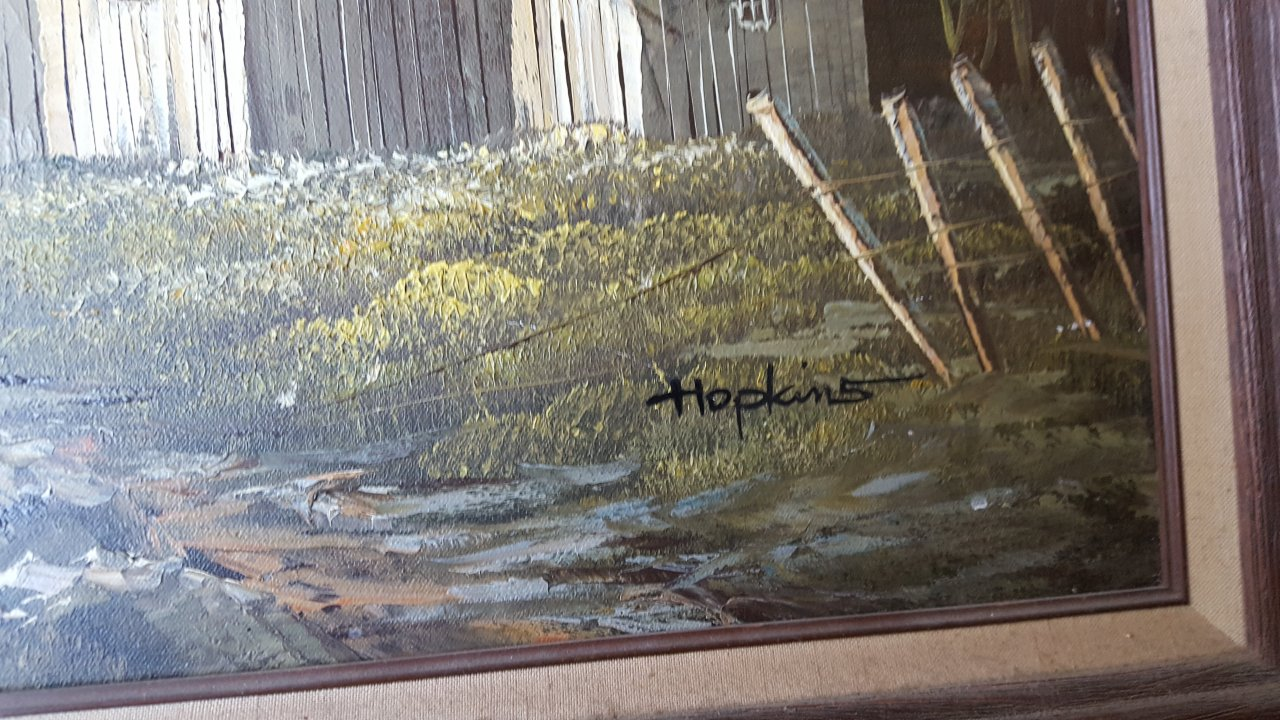 We Have An Oil Painting Signed By Hopkins 60336 From
