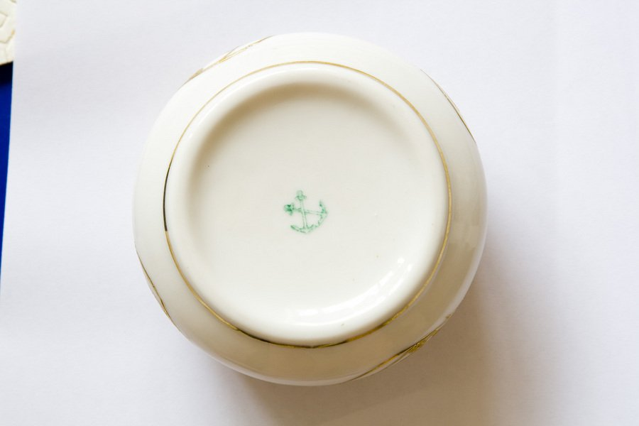 I too have a coffee set with the crossed green anchors mark do you have any idea where this comes from? & Green Crossed Anchors Marking On Antique China Any Ideas | Artifact ...