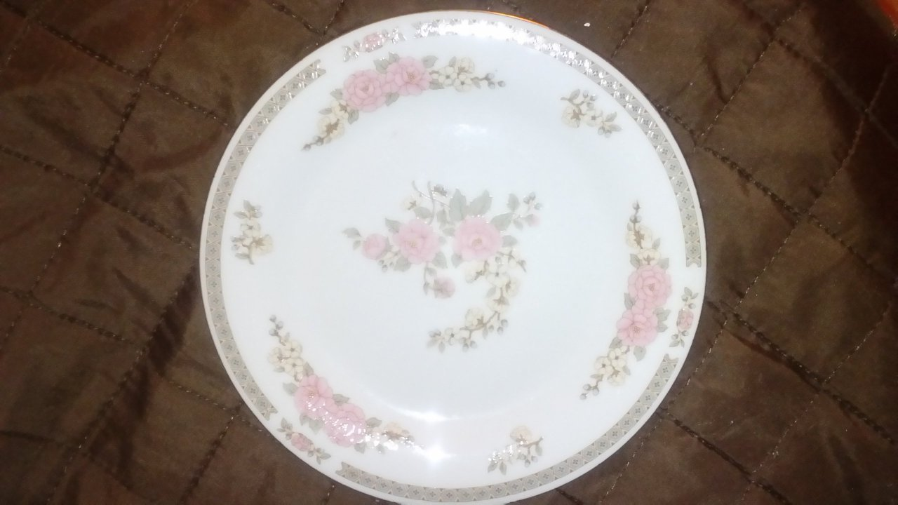 Hi I have six Crown Ming Jian Shiang Fine China Christine Rose dinner plate. & Dinner-ware | Artifact Collectors