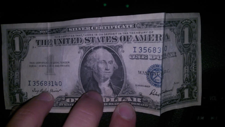 1957 Silver Certificate Without Letter After Serial Number ...
