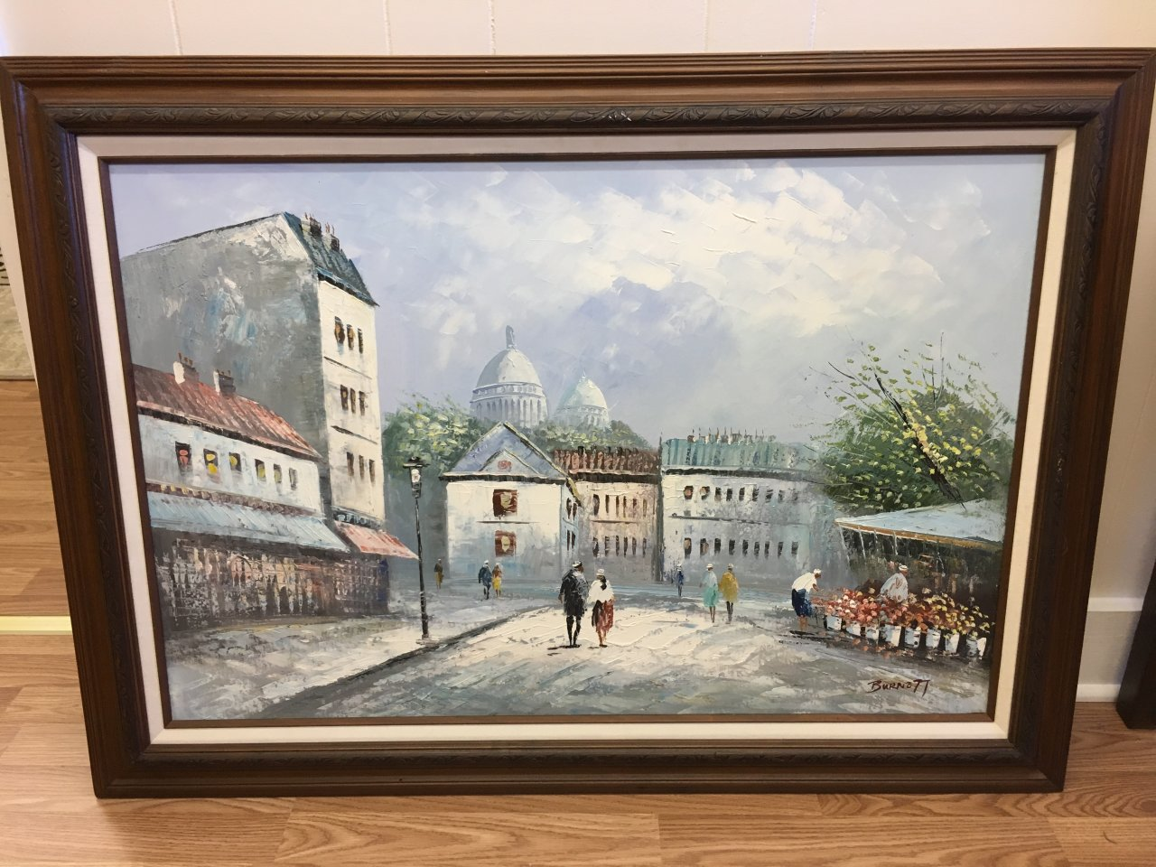 can you tell if this is an original burnett oil painting and how