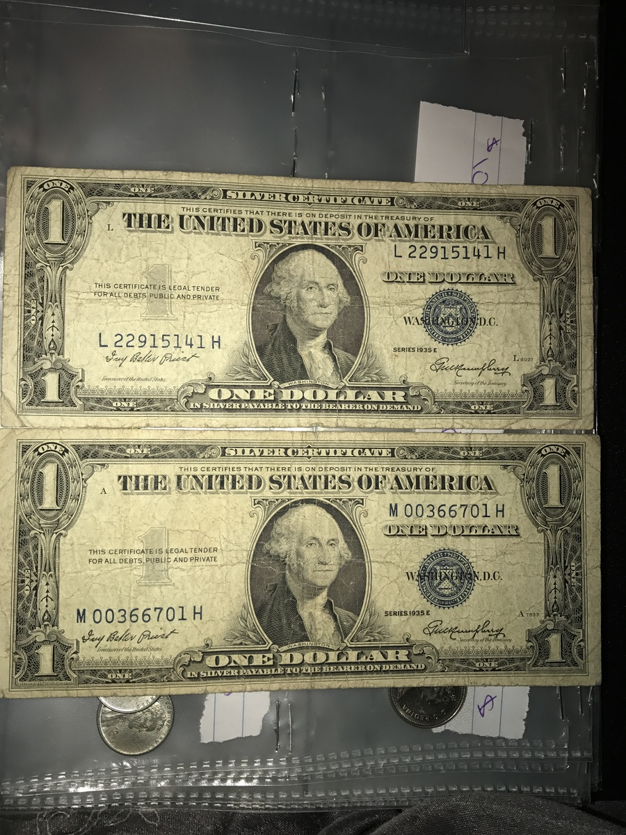 How much is a 1935 e silver certificate one dollar bill worth im very new to this and trying to figure out and organize coins are these any good xflitez Choice Image