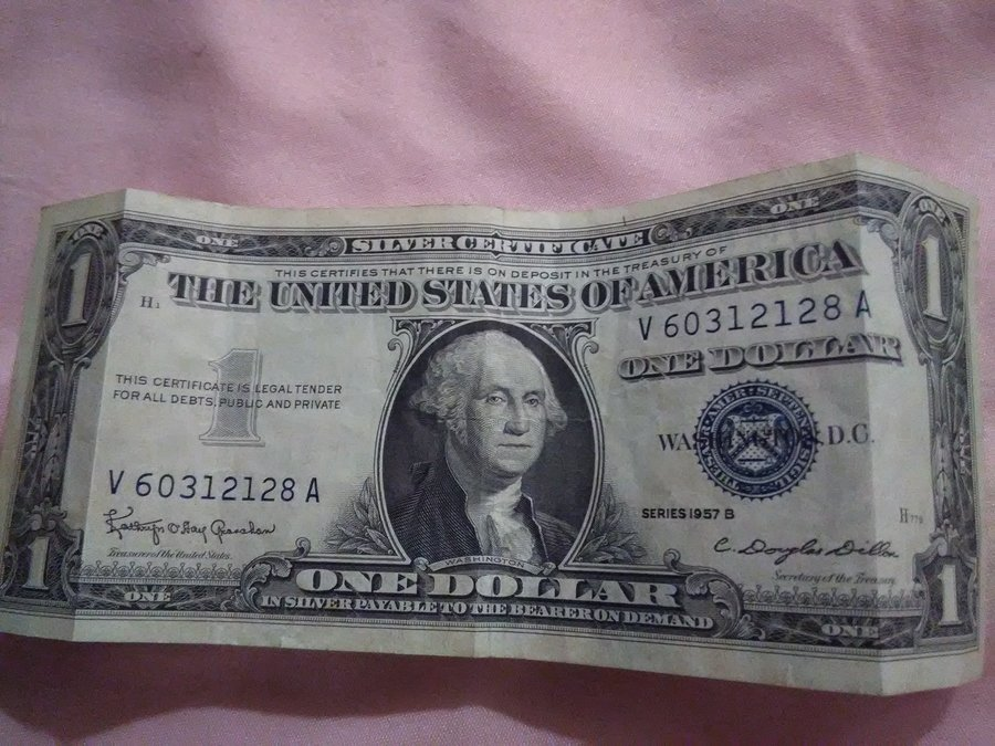 How Much Does Aone Dollar Bill Silver Certificate 1957 A B Worth