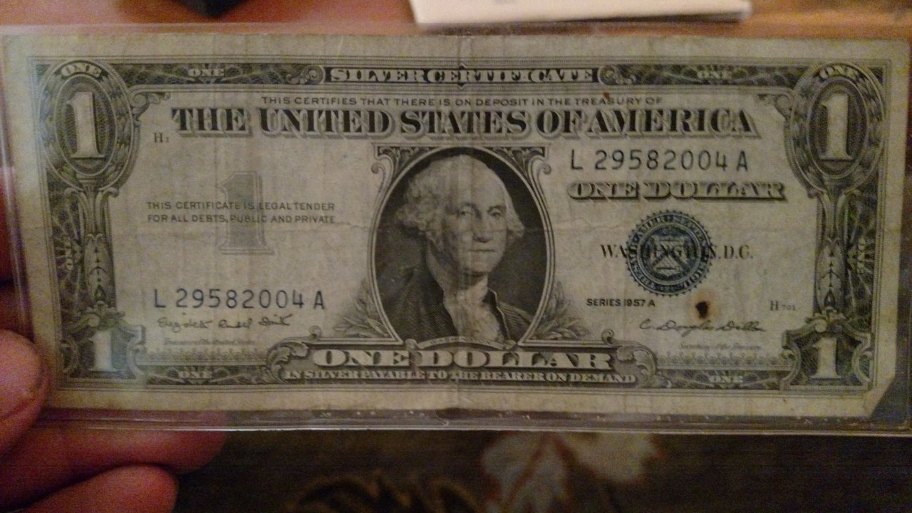 How much is a silver certificate dollar bill worth with blue seal what is mine worth xflitez Choice Image