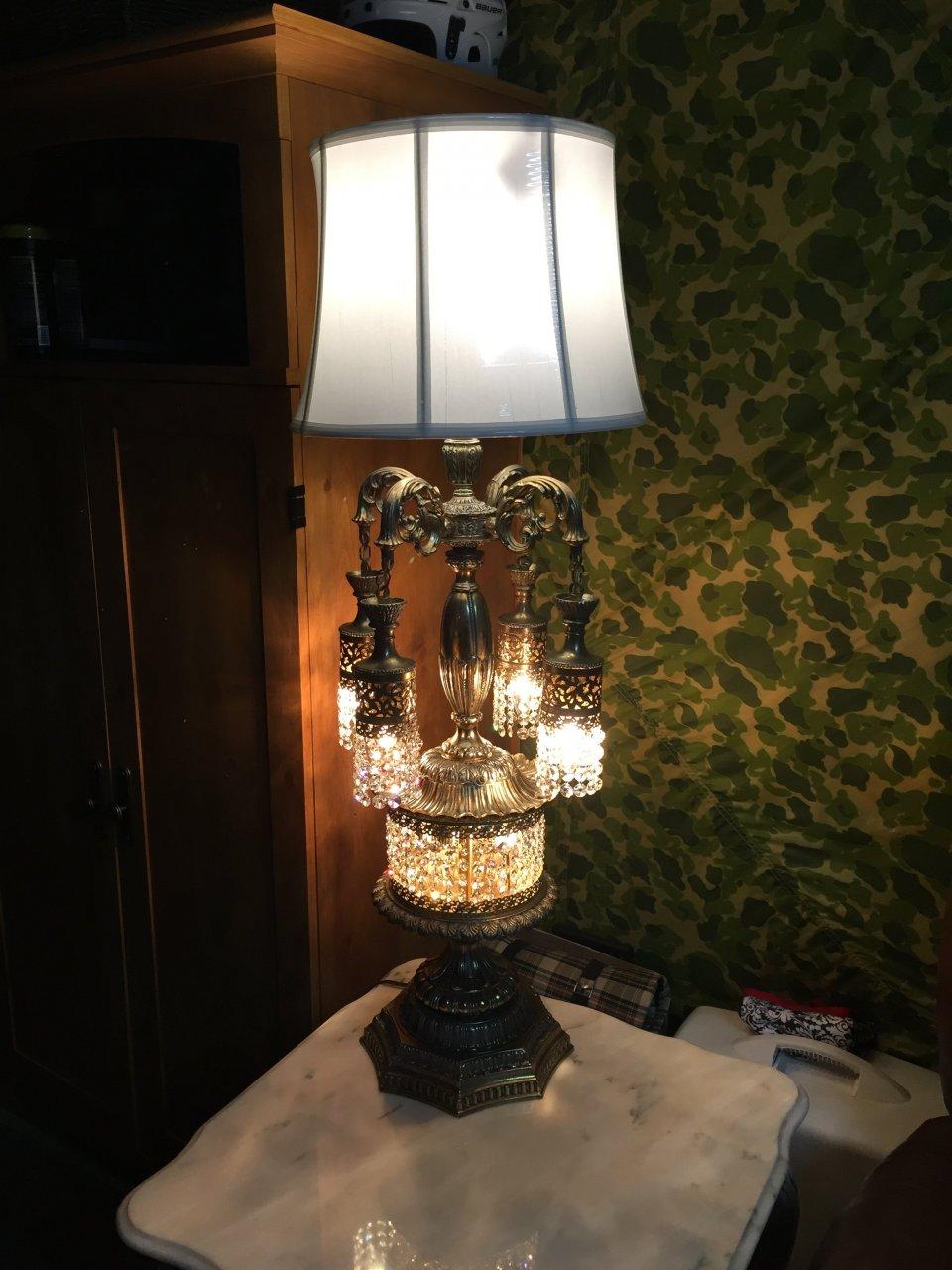 Vintage Crystal Lamp Shades