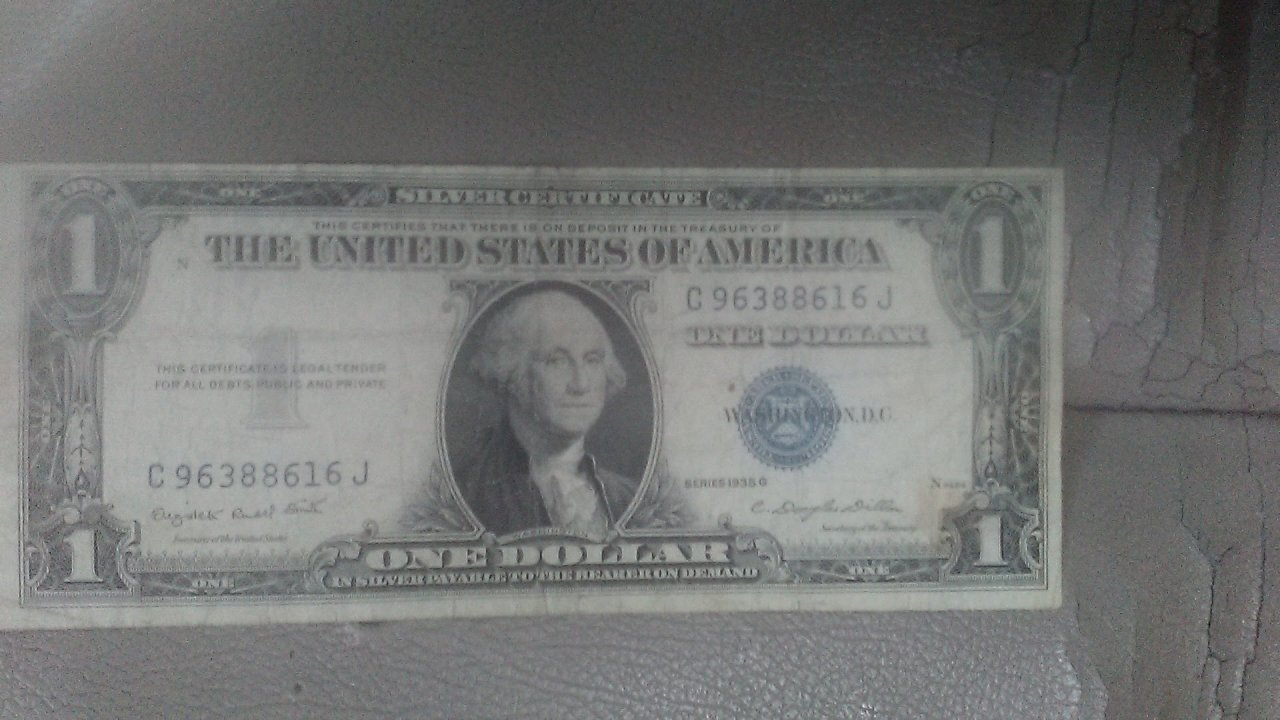 I Have A 1935 G 100 Silver Certificate Thats Cut Off Center What