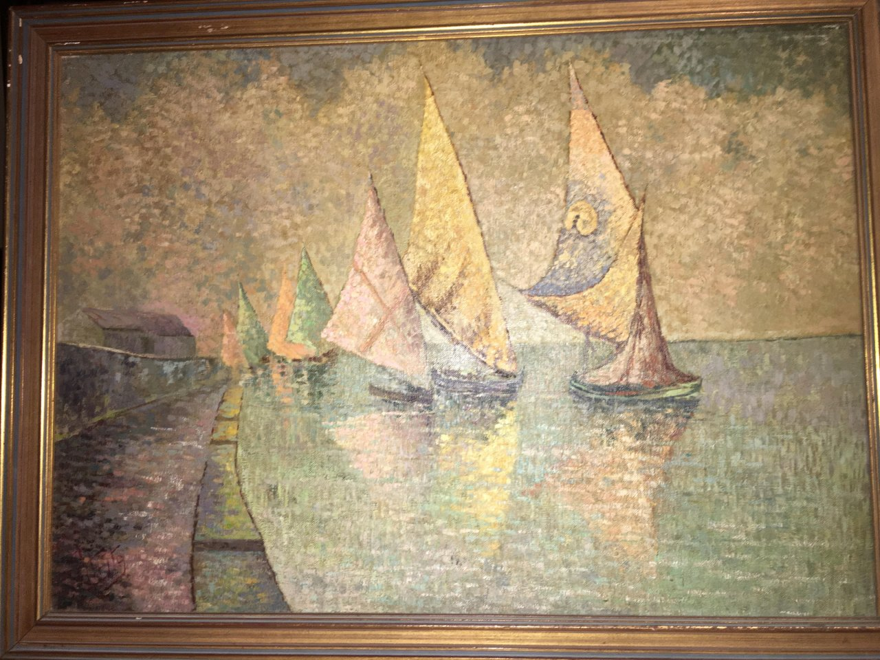 interesting painting of ships need help to identify the artist