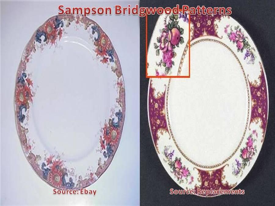 Sampson Bridgwood And Son Ltd Anchor Mark Dinner Set Pattern ...