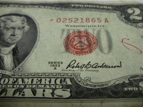 rare 2 dollar bill serial numbers