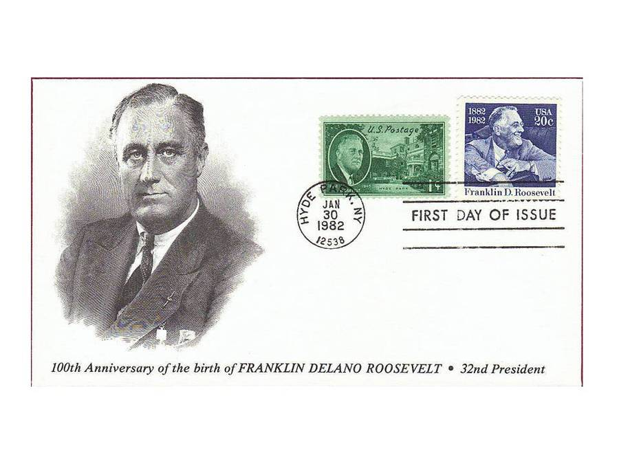 How Much Is A Gold Stamp Of Franklin Delano Roosevelt 100th