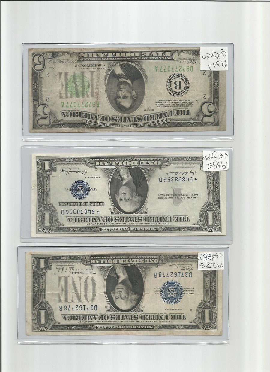 How much is a 1935 e silver certificate one dollar bill worth reserve bank or new york ny the seal is even green and i have other old 5s and they are blue or red hope to hear back thank you larry smith xflitez Choice Image