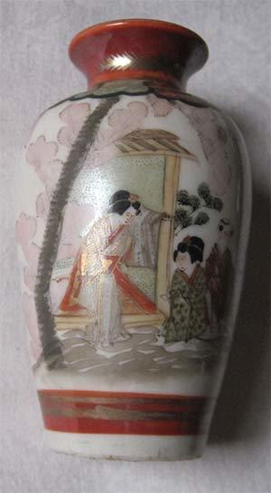 Kutani Porcelain Small Vase From Japan Artifact Collectors