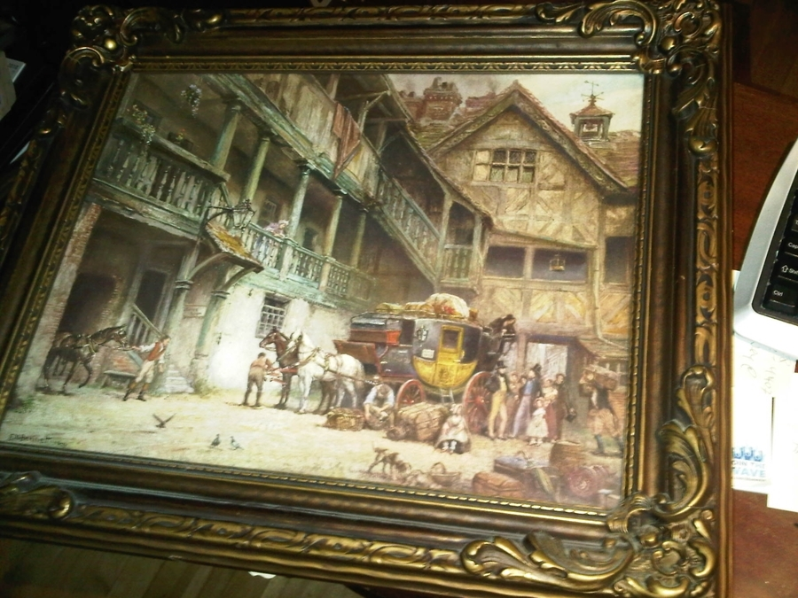 I Have A Signed 1929 Print By E M Bennett Named Quot The Departure Quot Can Someo Artifact Collectors