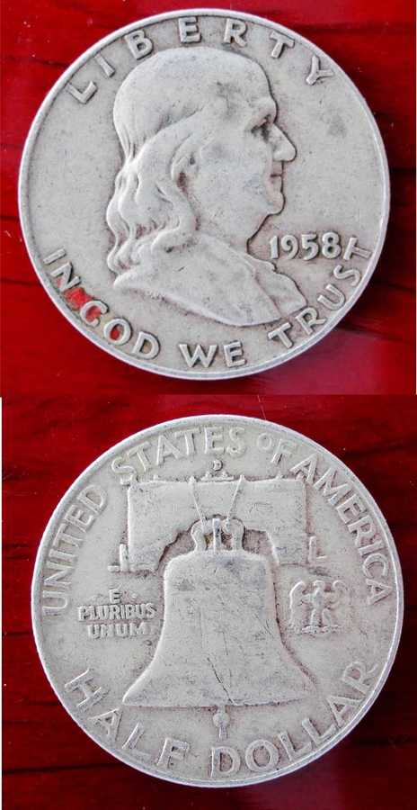 What Is A 1958 Silver Half Dollar Worth How Much Of The