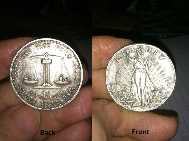 I Have A One Troy Ounce Silver Trade Unit Lady Liberty