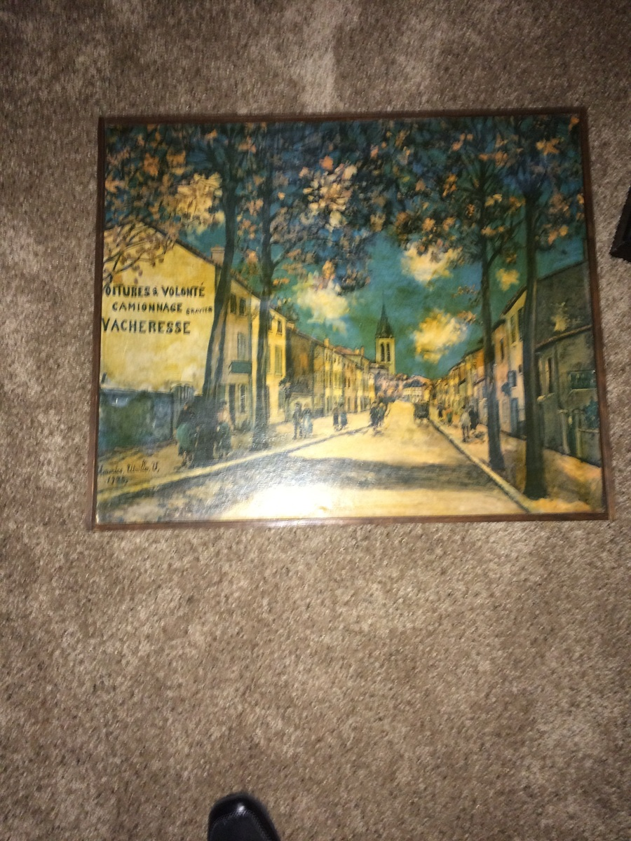 i have a painting signed maurice utrillo u 1925 it has been passed