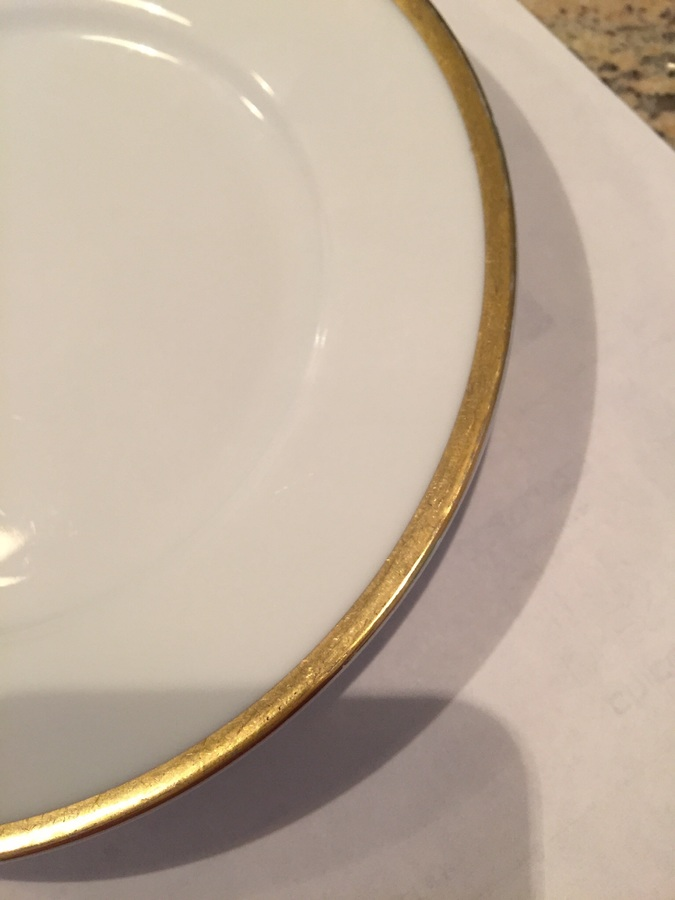 ... china with small gold rim around edges worth? Manufacturer is Imperial P.S.L. Empire Pattern is Phoebe. Extra dinner plates but no serving pieces. & How Much Is This 12 Place Settings Of White China With Small Gold ...