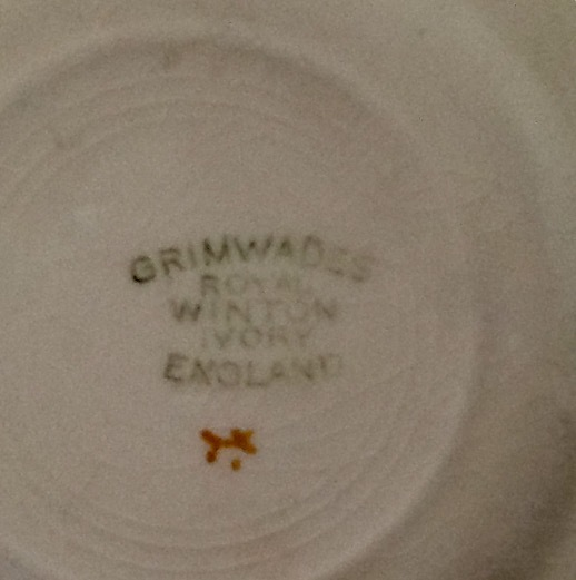 I Have 2 Grimwades Ivory Plates Which Was Given To Me By