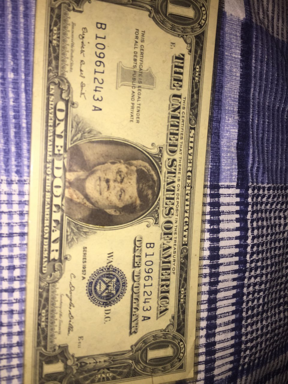 I Have A Series 1957a Jfk One Dollar Certificate Is It Worth