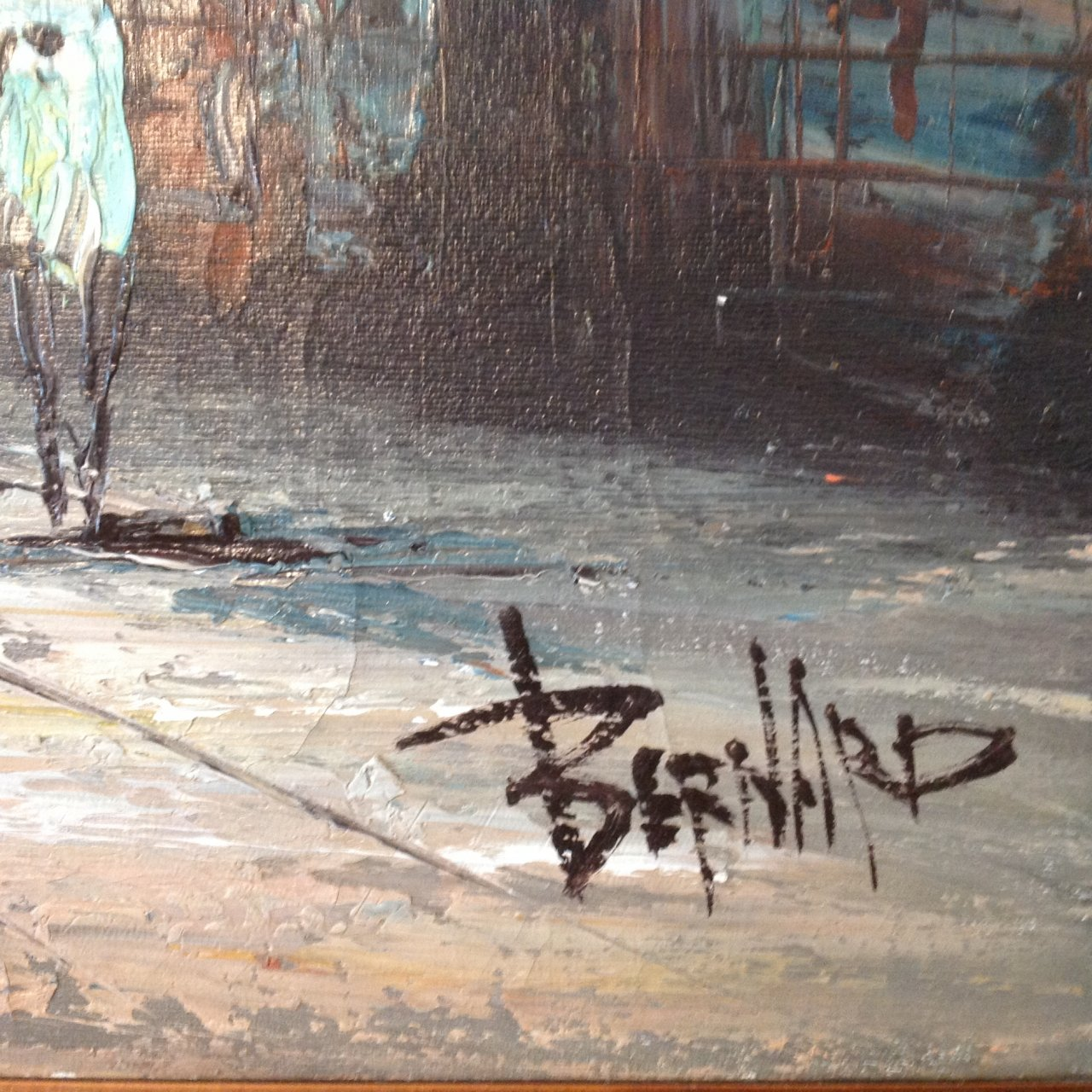 Hi I Have A Large Oil Painting Signed By Bernard In The