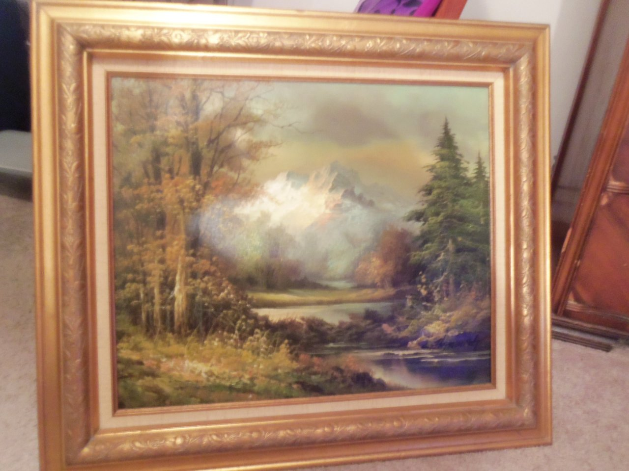 Need Information On Dickens Oil Painting Artifact Collectors