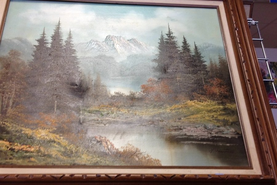 Oil Painting Signed By G Martin