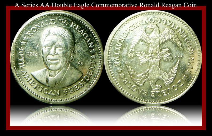 How Much Is A Ronald Regas Silver Dollar Double Eagle Coin