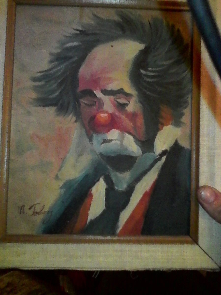 How May I Find Out How Much My Clown Oil Painting Is Worth
