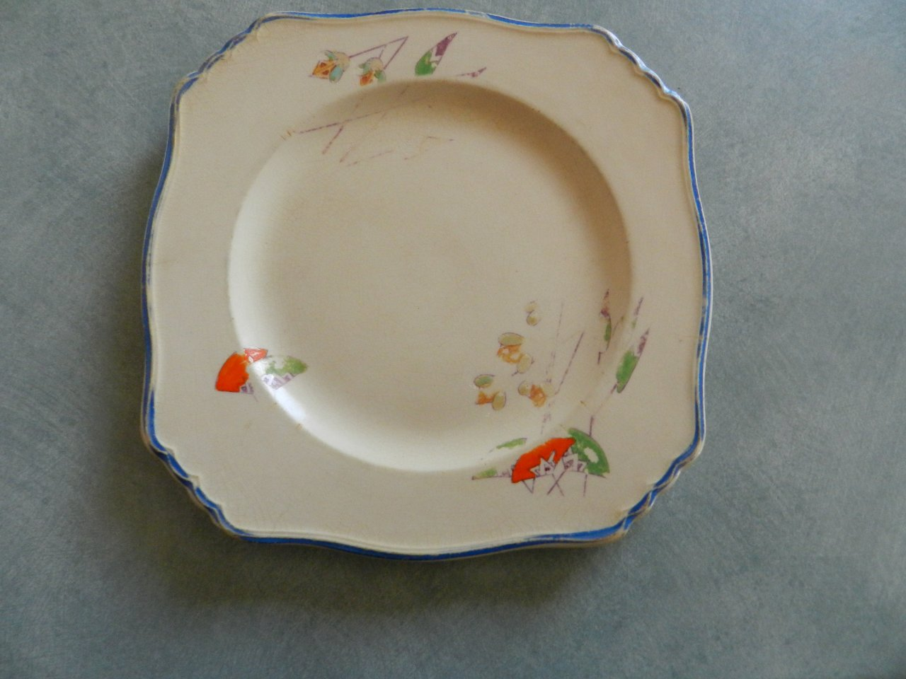 I have a grimwades royal winton ivory england with number 768985 i have a grimwades royal winton ivory england with number 768985 the plate does have chips and artwork is fading can someone tell me how much this is reviewsmspy