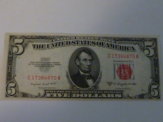 How Much Is A 1963 Red Seal Five Dollar Bill Worth | Artifact Collectors