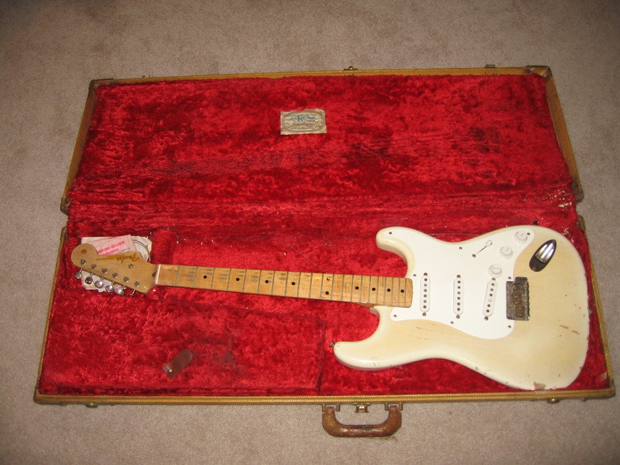 how much is this 1956 stratocaster worth axe central. Black Bedroom Furniture Sets. Home Design Ideas