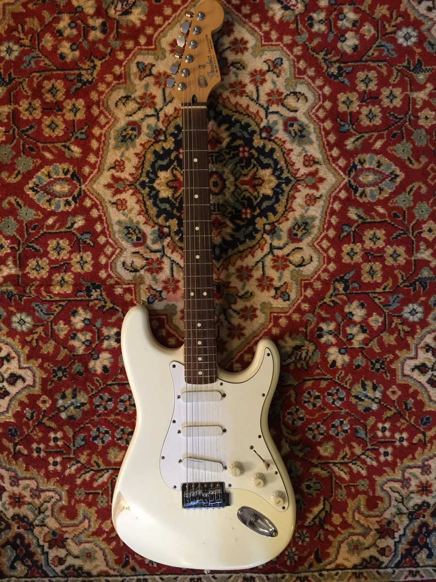 I Have Fender Stratocaster Made In Mexico MN006121 All White