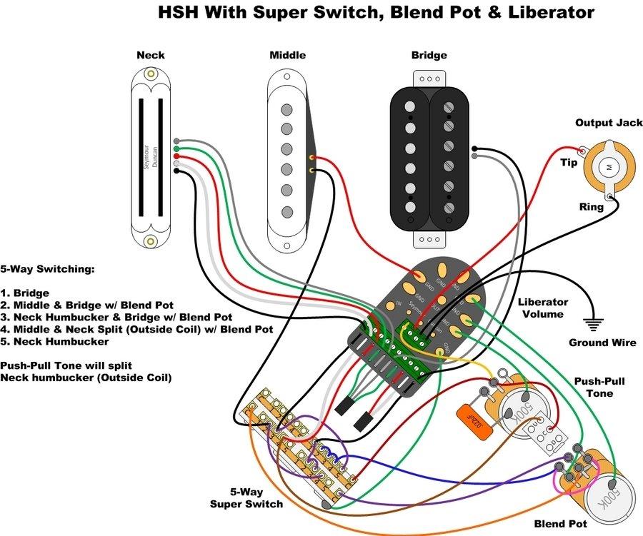 Blacktop Strat Wiring Diagram - All Diagram Schematics on