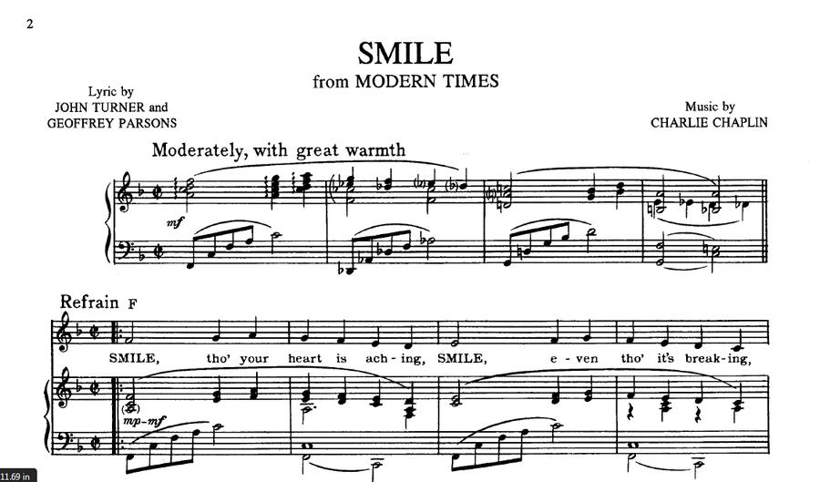 Sheet Music Of Charlie Chaplin Charlie Chaplin Club