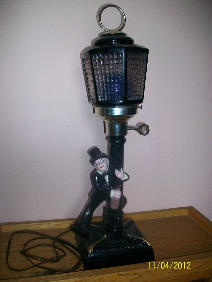 Vintage 1932 Charlie Chaplin Bar Lamp W/ Music Box | Charlie ...